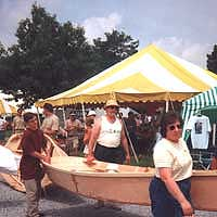 Family boat building at the Wooden Boat Show